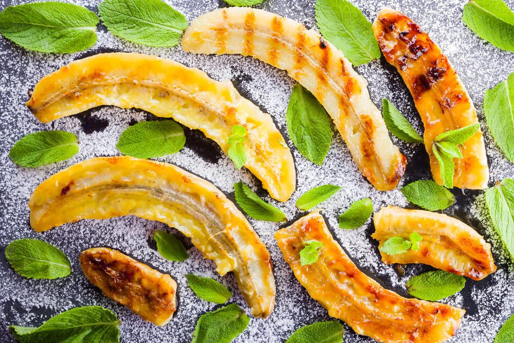 Gegrillte Banane mit leckerem Vanille Quark