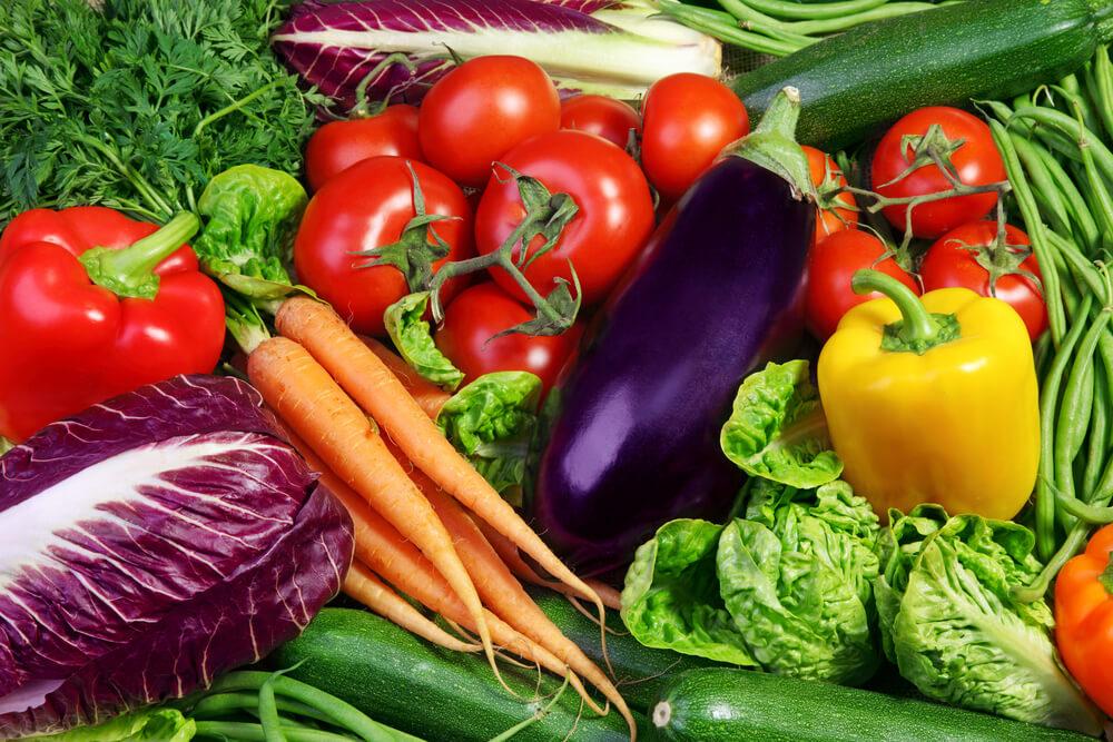 Vegetarische Lebensmittel Gemuese