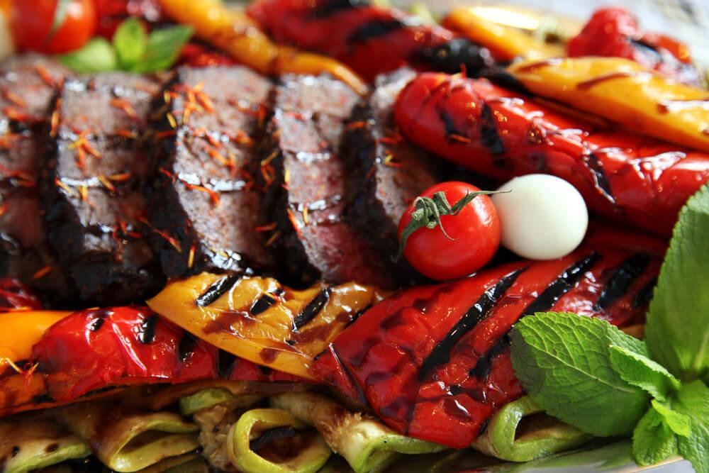 Steak mit Grillgemuese