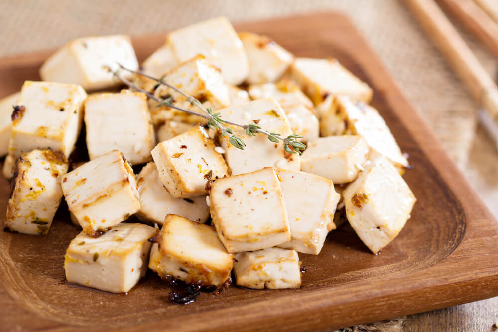 Vegane Lebensmittel Tofu