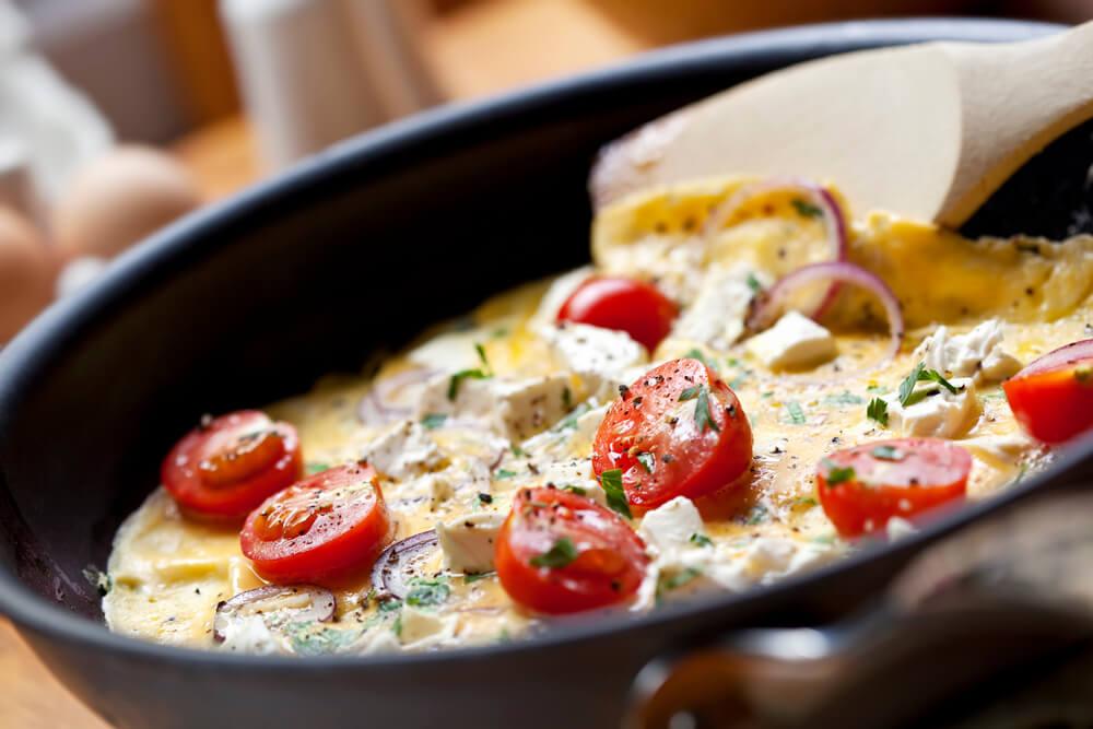 Glutenfreie Rezepte Tomaten-Feta-Omelette